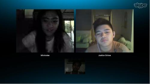 Skype right now with Earl and Bea :D