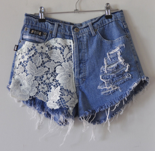 Cute craft #32: Refresh a pair of ripped shorts with romantic lace