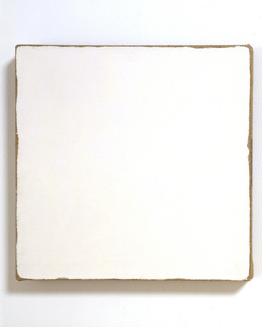 23rd-block:  Robert Ryman, Untitled. Oil on canvas. 1958