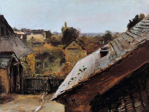 Carl Blechen, View of Roofs and Gardens. c.1835