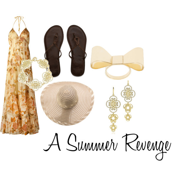 A Summer Revenge - Dream Outfit by thefashiondemoiselle featuring wide brim hats