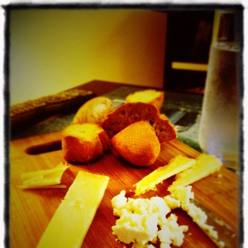 EAT. Bread and Cheese Feta White Cheddar Parmesan Comte