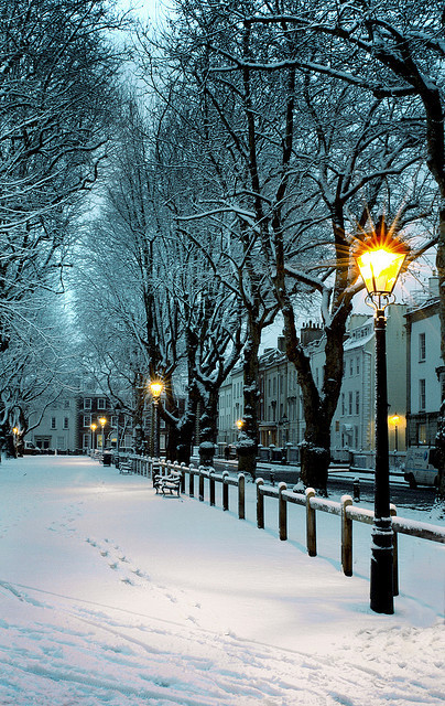 Winters Night, Bristol, England photo By archidave