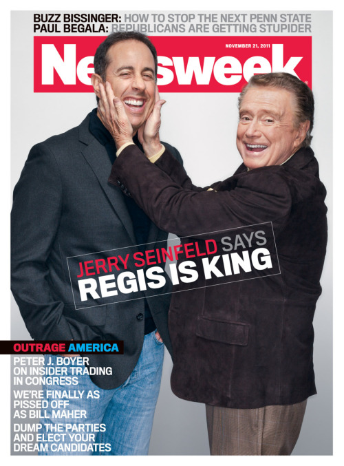We asked Regis who should interview him. He chose Jerry Seinfeld, and we made it happen.