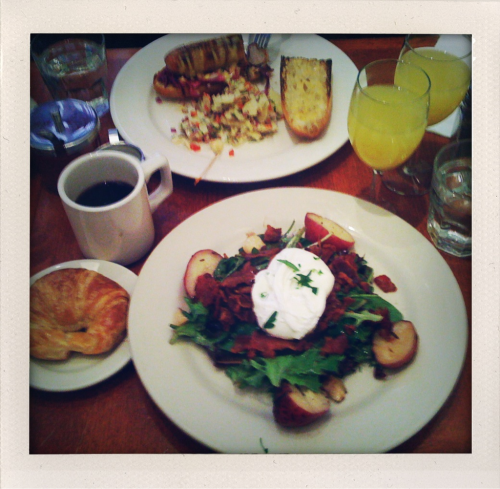Prix fixe brunch @ Cornelia St. Cafe, Greenwich Village NY