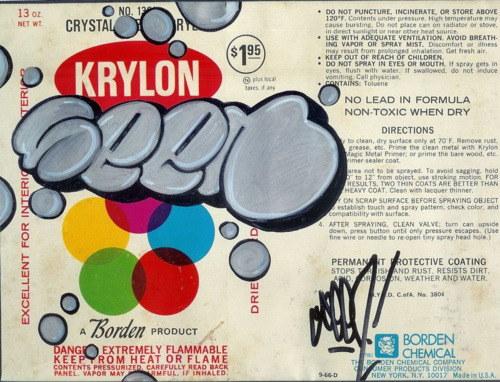 Seen design on Krylon label