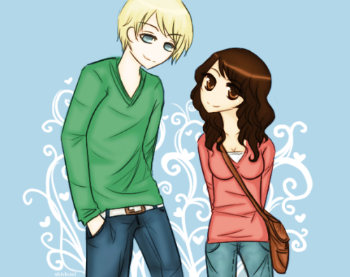Drew some more Dramione today, derpy derp doop http://shiriomi.deviantart.com/art/HP-Happy-go-lucky-268863132