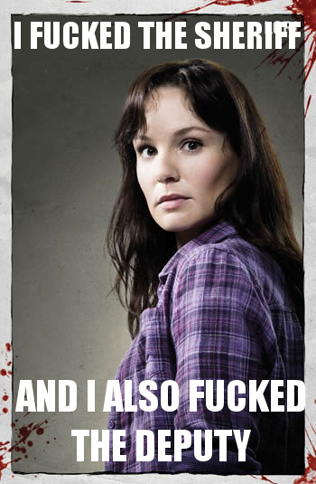 For you #WalkingDead fans: a captioned pic of Lori Grimes