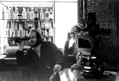 parasitehilton:  Rare behind-the-scenes shot of Kubrick filming The Shining.