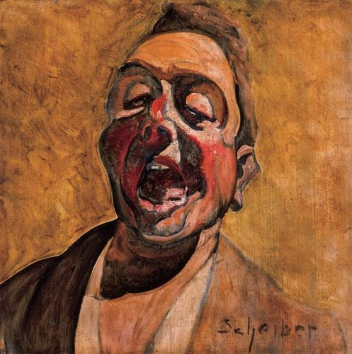 taxiarchos:  Hugo Scheiber, Shouting, Self Portrait, ca. 1920