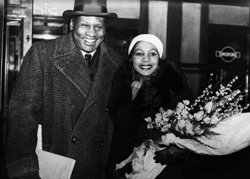"Princess Kouka of Sudan with Paul Robeson in London on the way to North Africa to film ""Jericho"" in 1937. cc: @lascasartoris"
