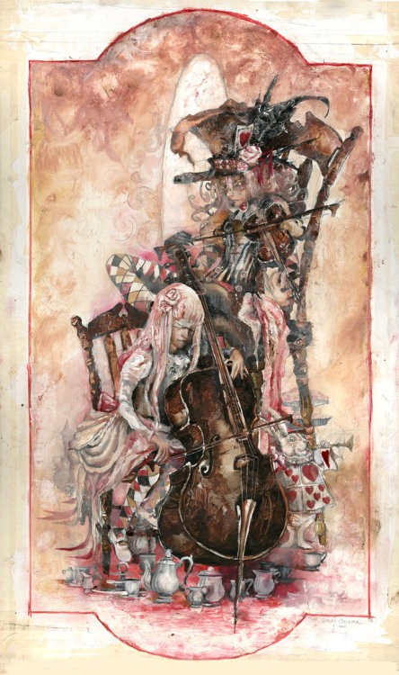 The Queens Orchestra by =Inkwell-Illustration