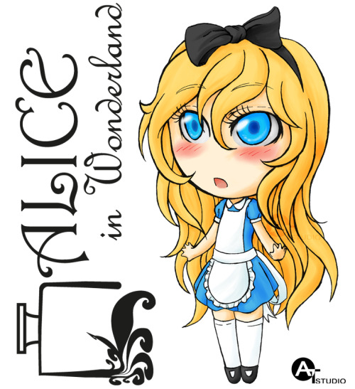 Chibi-Alice in Wonderland by =AiwendeilTintalle