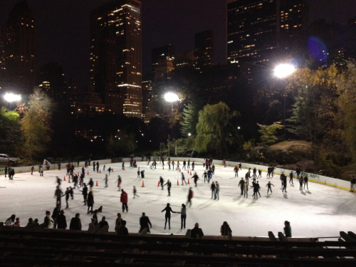 It's happening at Wollman Rink this evening