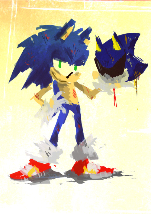 I liked that one panel in issue 230 where Sonic was holding Metal Sonic's head and being all cocky about winning. And then the shit hits the fan.