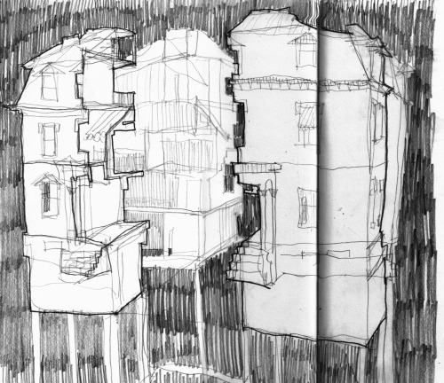 chromat:  from my sketchbook do ho suh exhibit at the lehmann maupin gallery, it was amazing