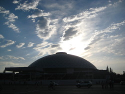 The dome theatre in Parque O'Higgins (where Fantasilandia is, also the park right next to my apartment).