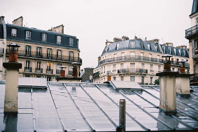 | ♕ |  Paris in rain  | by © Martin Rettenbacher | via ysvoice