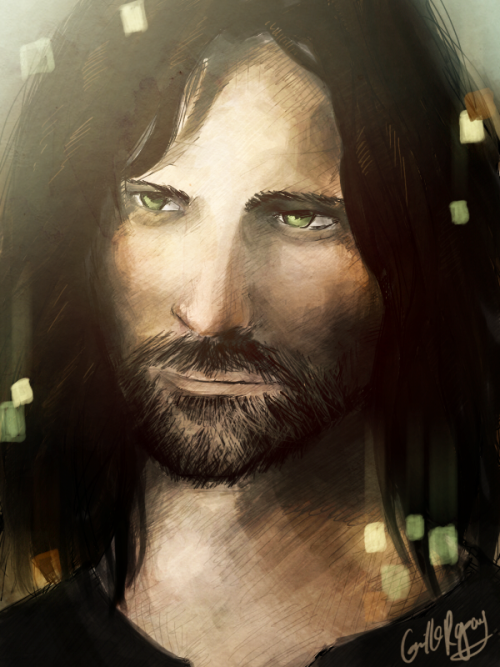 Aragorn. Viggo Mortensen. Reference used.