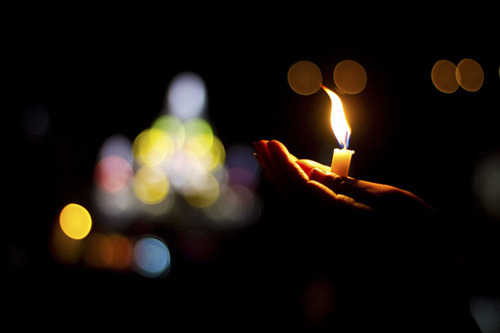 """All the darkness in the world cannot extinguish the light of a single candle."" - St. Francis of Assisi"