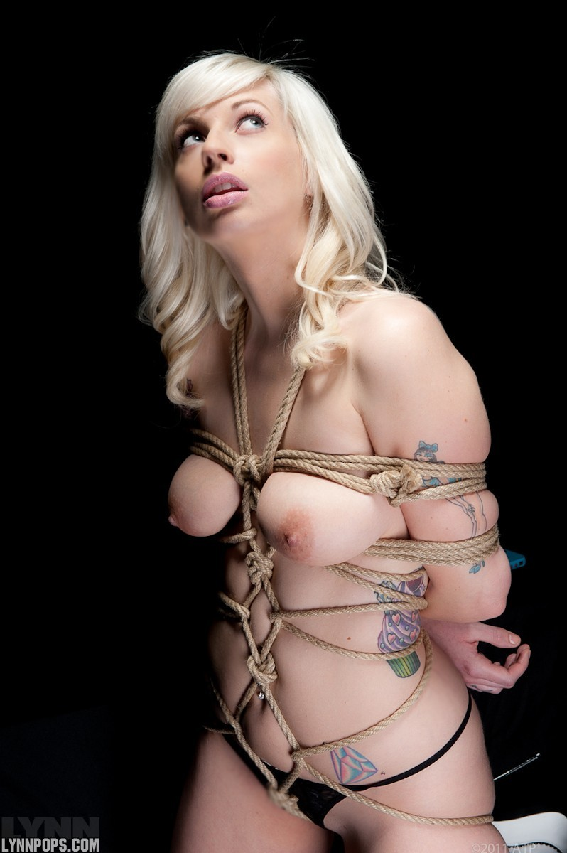 Lovely shibari model