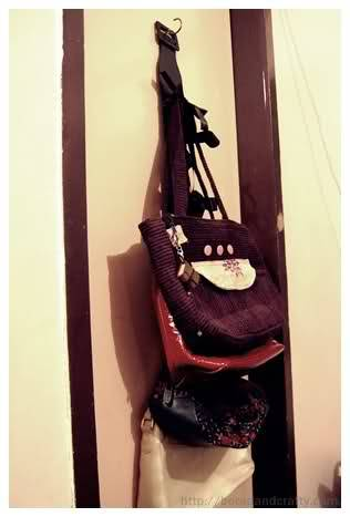 old belt to bag holder : Bored and Crafty I had this exact same idea…minus the old belt lol. Now I won't feel so cool when I finally make mine. But you should check out this one, you'll need something to compare it to.