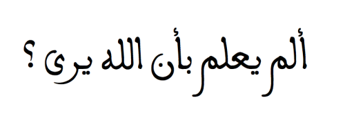 """Does he not know that Allah sees?"" — Qur'an, 96:14."