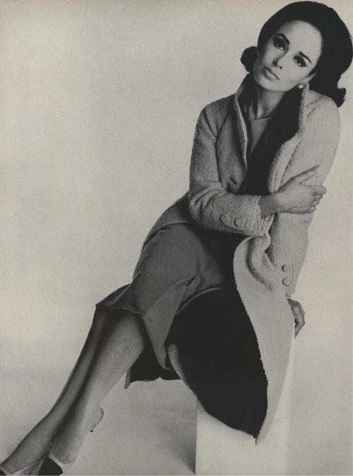 yehyehgrace:  Model wearing ensemble by Chanel (Vogue - September, 1962)
