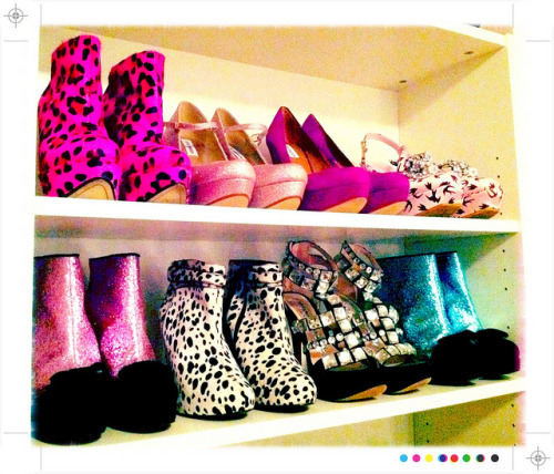 A little peek at my shoe shelves!