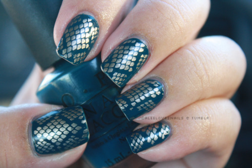 OPI - Ski Teal You DropChina Glaze - 2030BM Plate 215