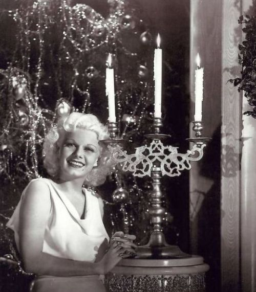 mothgirlwings:  Jean Harlow - Christmas 1930s