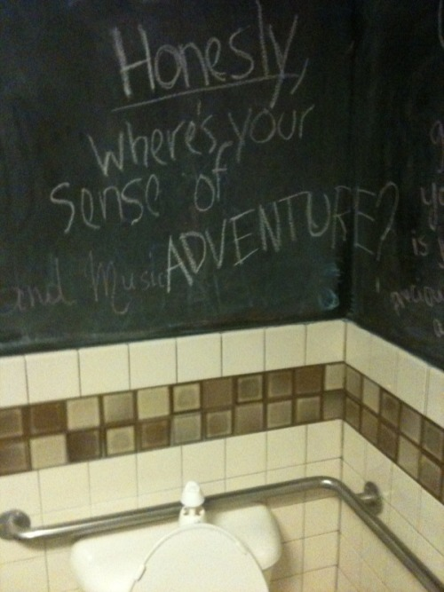 Free wisdom in a public bathroom