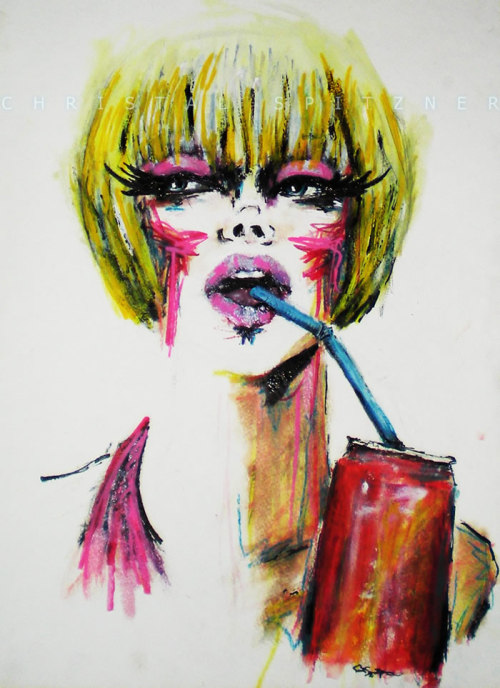 ~Soda Pop Electric~ ink, watercolor pencils
