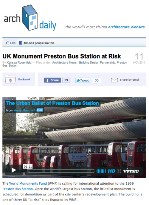 The Urban Ballet of Preston Bus Station over at Archdaily