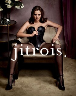 (via on en est où: On the edge of fashion, ad for jitrois) leighton meester x jitrois