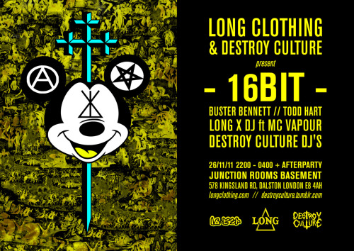 DESTROY CULTURE x LONG CLOTHING kick off the celebrations leading up to the imminent apocalypse… check out the Facebook event for more info.