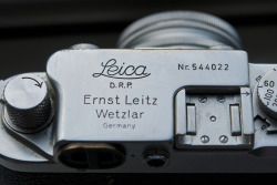 chromeography:  Leica IIIF camera, ca. 1950 (by Erik Spiekermann)