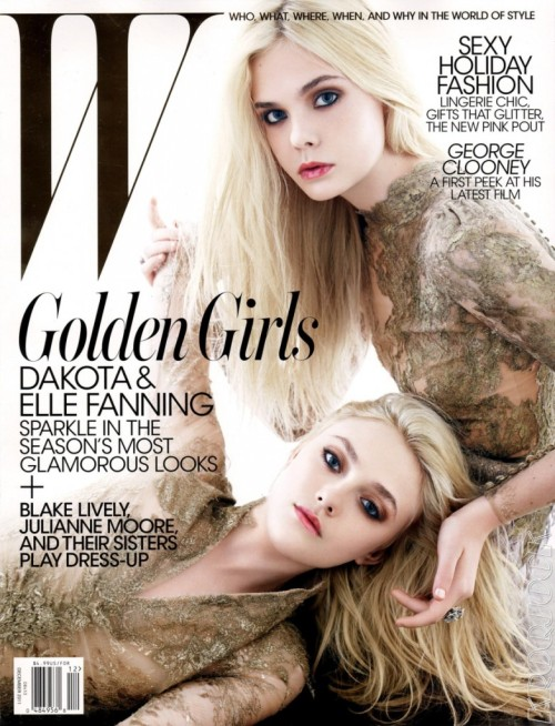 Dakota & Elle Fanning (W magazine, december 2011)