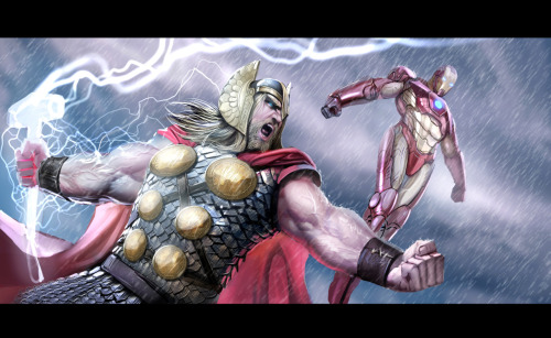 Thor and Ironman // by nebezial