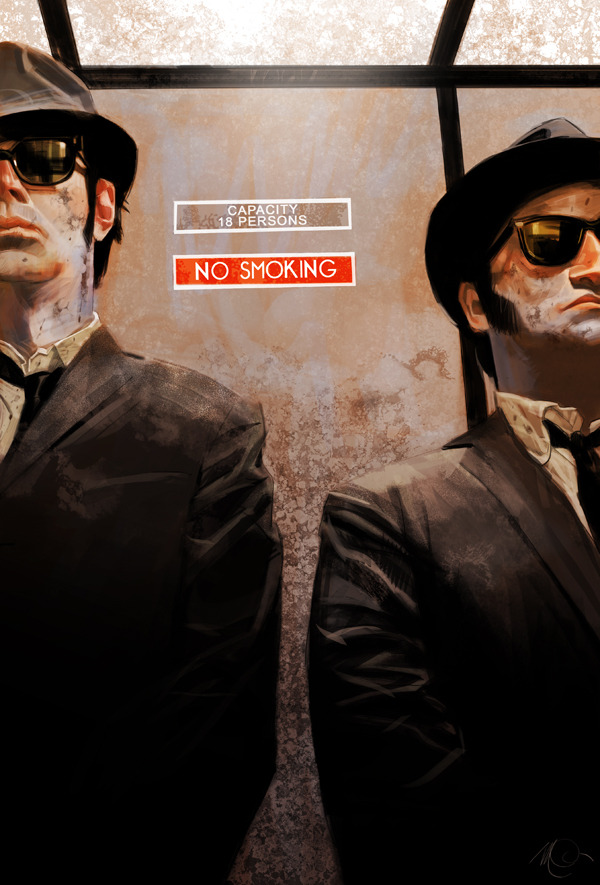 The Blues Brothers by Massimo Carnevale
