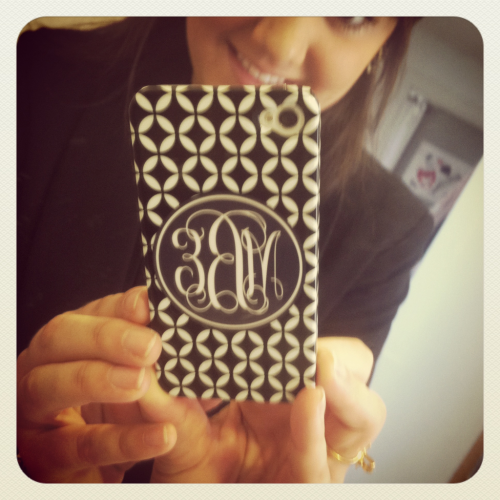 Check out that case (even though my initials are backwards…)   My FAVORITE personalized iPhone case by far came in the mail last week. A big thank you to Rocksann from Etsy for her remarkable service.  Etsy.com never lets me down!