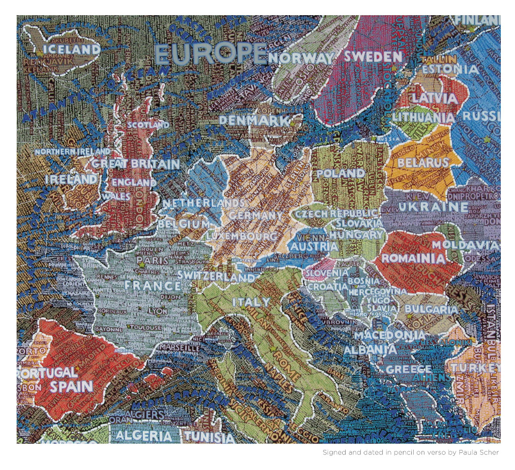 An exhibition examining the Art of Mapping at London's Air Gallery features work by Paula Scher, Rob Ryan, Grayson Perry and Simon Patterson to name just a few, over on the Grafik feed now…