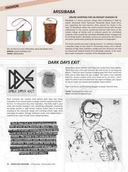 Big thanks to Urban Edge Magazine for featuring Dark Days Exit - pick up your copy from these fine establishments.