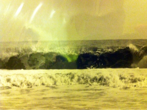 Me surfing Lbi around 1997,  About to get swallowed up by a Harvey Cedars close out.  Photo by Ryan Carbary
