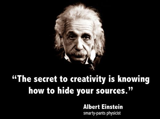 Knowing how to hide your sources.