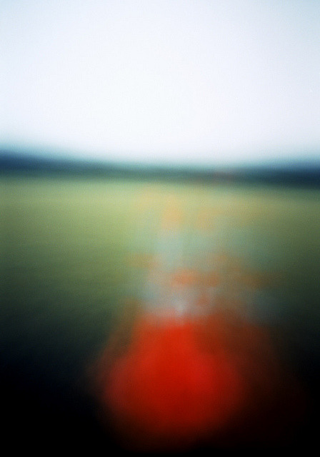 Pinhole: Traffic Cone Circle on Flickr.Via Flickr:Facebook | Blog f235, Kodak Portra 400, eight seconds Hand-held camera while walking around a traffic cone