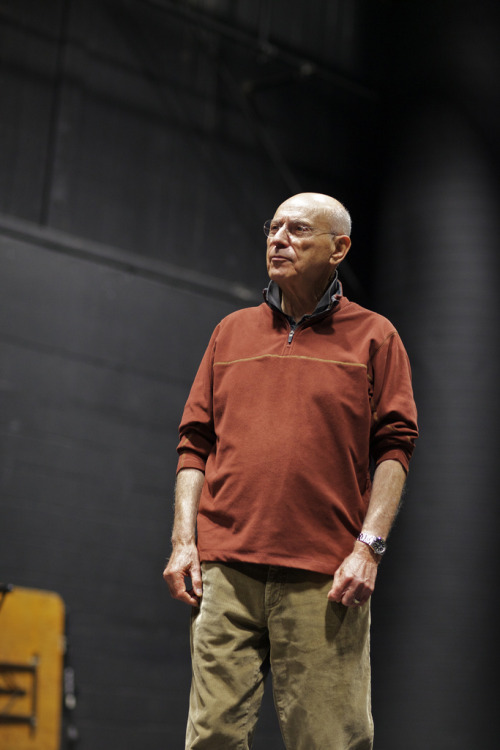"Briee della Rocca took some amazing photos of Alan Arkin's visit last Thursday. The Academy Award winning actor, who graduated from Bennington in the 1950s, did a question and answer session with students in one of our black box spaces on campus. He was intelligent, funny, witty, and wise. I could see people writing down notes vigorously as he spoke, wanting to get every word down. He talked about how being back at Bennington was quite the nostalgic experience for him, and when one student asked if he'd ever seen a ghost here, he quickly turned it around, saying ""Being here today I see all the ghosts of my past. And it's very moving."" He encouraged us to do what we love, even if takes a long time, and even if it feels as though at some point we may give up. He repeatedly emphasized how early in his life he realized he ""had to act."" There was nothing else. He just had to be an actor. And he went for it. At this point, I really felt like everyone sitting and listening in Margot Tenney theater could relate. At Bennington we are encouraged to pursue our passions through the work we do here; this sentiment of ""having to do something"" without knowing exactly why at the time resonates with the student body here. For the full set of photos, click here!For more notable alumni who attended our beloved B'ton, click here! -India K, '12"