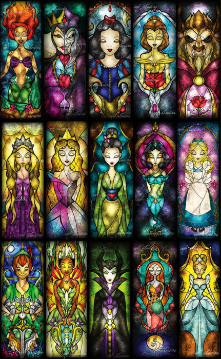 flavorpill:  Beautiful Disney stained glass, via Buzzfeed