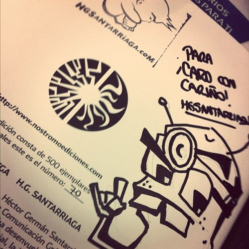 Acá firmado!  #nostromo #comic  (Taken with instagram)