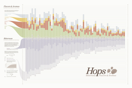 datavis:  Hops Chart • Visualizing Bitterness Flavors & Aromas of Beer Brewing Hops  Woohoo!